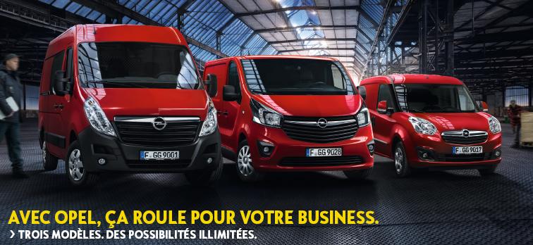 Avec Opel, ça roule pour votre business.